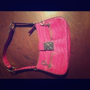 Hot pink guess purse